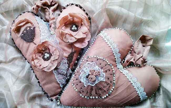 осеннее украшение из ткани